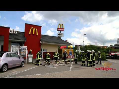Feuer bei McDonald`s Freudenberg - 3 Personen verletzt