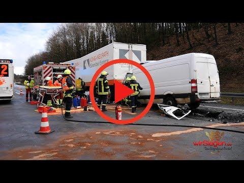 A45-Schwerer Verkehrsunfall-Vollsperrung zwischen Wilnsdorf und Haiger/Burbach