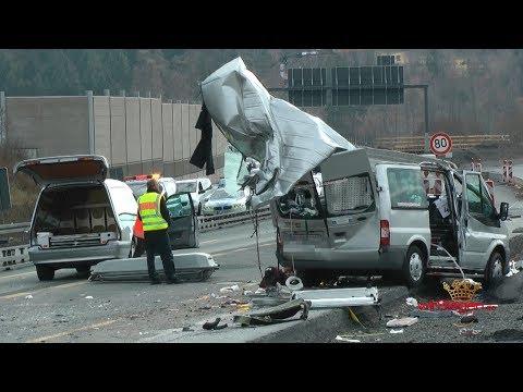 Schwerer Unfall auf der A 45 - Drei Tote und mehrere Schwerverletzte (Wetzlar/Hessen)