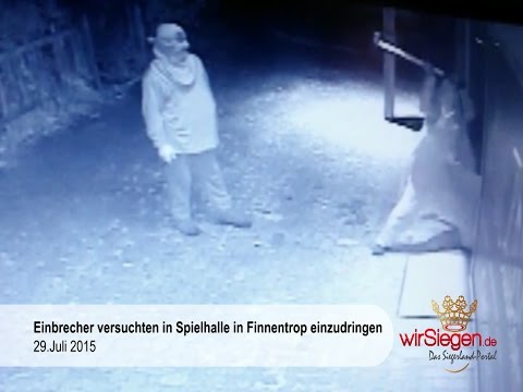 Einbrecher versuchten erfolglos in Spielhalle einzudringen (Finnentrop/NRW)