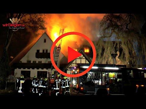 Vollbrand! China Restaurant und leerstehendes Hotel in Flammen (Hilchenbach/NRW)