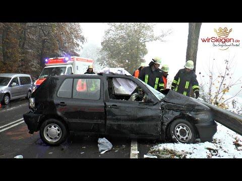 Pkw in Gegenverkehr geraten! Beifahrerin schwer verletzt