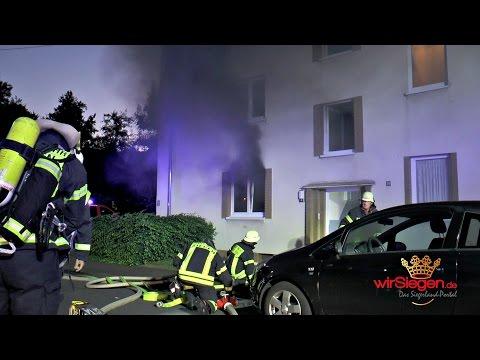 Hausbewohner rettet Senior aus brennender Wohnung (Siegen/NRW)
