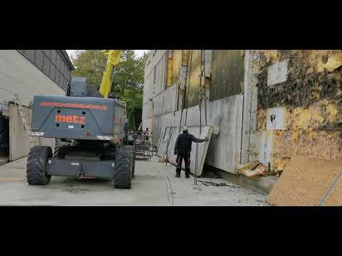 Abriss Außenwände Dreifachhalle Kreuztal