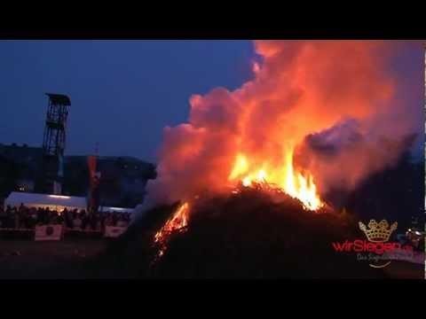 Eiserfelder Osterfeuer 2013 auf den Siegwiesen