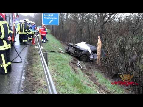 Tödlicher Überschlag auf A45 bei Wilnsdorf