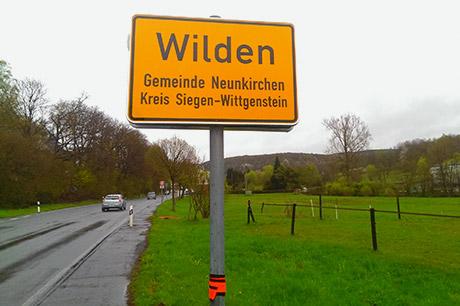Ortsschild Wilden | Foto: Axel Bieler