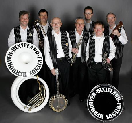 Die Herdorfer Dixieland Friends sollen wieder für gute Stimmung beim Jazz-Frühschoppen am Museum Wilnsdorf sorgen. (Foto: Veranstalter)