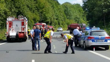 Schwerer Unfall zwischen Dreis Tiefenbach und Weidenau
