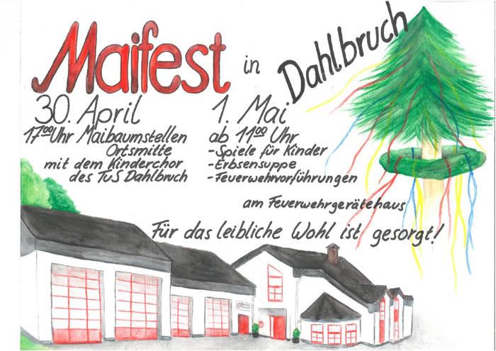 2016-04-27_Hilchenbach-Dahlbruch_Maifest des Löschzug Dahlbruch_Plakat_Feuerwehr