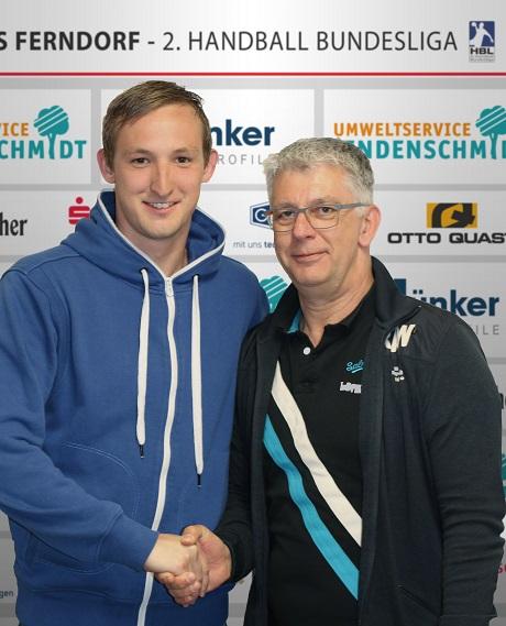 Der TuS Ferndorf verpflichtete Richard Meinicke (li.). Foto: Verein