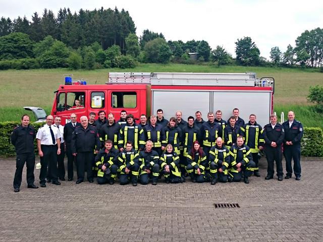 21 neue Truppführer bei der Feuerwehr Bad Laasphe. (Foto: Feuerwehr)