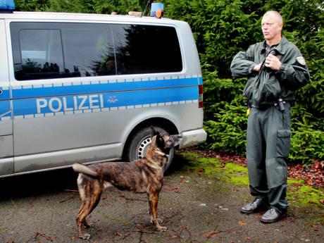 Hexe (Holländischer Herder) und Hundeführer Bernd Gaebel (Archivfotos: Kay-Helge Hercher)