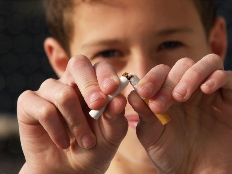 Nein zur Zigarette. Clever ist, wer gar nicht erst anfängt. (Foto: AOK)
