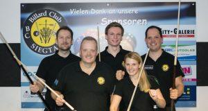 v.l.n.r.: Patrick Ruhnow, Klaus Schumacher, Ina Kaplan, Jörn Kaplan, Patrick Bund (Foto: Birgit Wichelhaus)