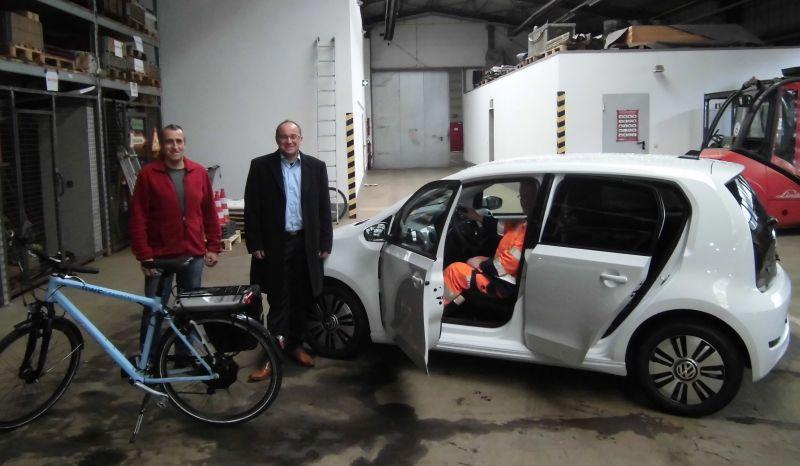 Erstes E-Auto im städtischen Baubetriebshof. (Foto: Stadt Hilchenbach)