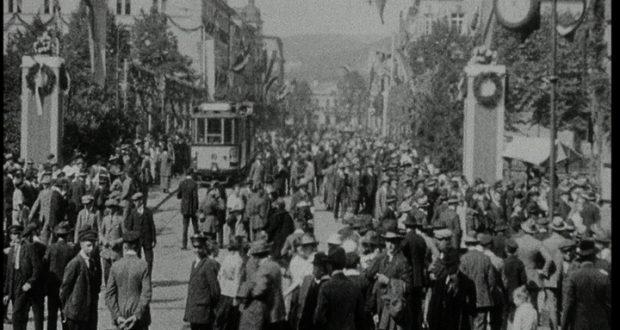 Bahnhofstraße und Siegbrücke im Jahr 1924