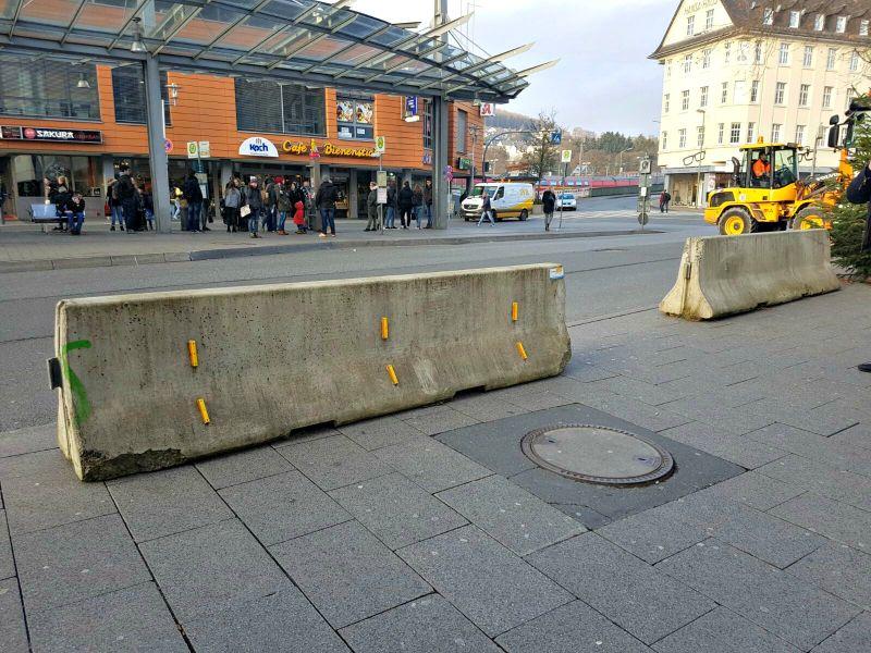 Absperrung im Bereich Bahnhofstraße