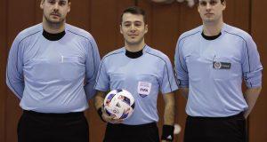 Der 24-jährige Schiedsrichterlehrwart und stv. Obmann Florian Schreiber (SG Giersberg) ist einer von 12 Futsal-Schiedsrichtern, die auf der DFB-Liste geführt werden. Er war am vergangenen Wochenende beim DFB-Futsal-Länderpokal-Turnier im Einsatz. (Quelle David Hennig, Westfalensport)