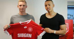 Neu bei den Sportfreunden: Cliff Uyimwen (rechts) und Alexander Mißbach. (Foto: Sportfreunde Siegen)