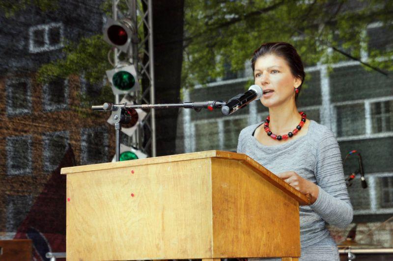 Sahra Wagenknecht (DIE LINKE) referiert an der Uni Siegen (Archivbild: Kay-Helge Hercher)