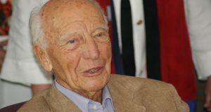 Walter Scheel bei einem Besuch in Daaden (Rhl.-Pfalz) im Juni 2010. In seiner Kindheit verbrachte er viel Zeit bei seinem Onkel, der Bürgermeister von Daaden war. (Archivbild: Kay-Helge Hercher)