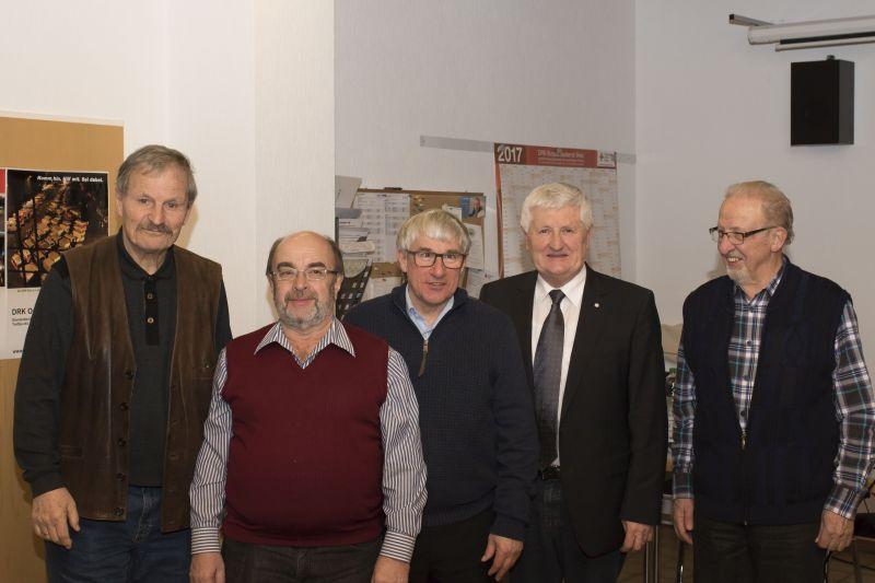 v.l.: Berthold Siebel, Bernd Günther, Anton Vitt, Friedrich Wenzelmann, Manfred Wied