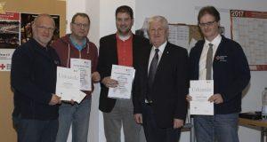 v.l.: Theodor Schneider, Thomas Siebel, Christian Büdenbender, Friedrich Wenzelmann, Klaus-Ulrich Hofmann
