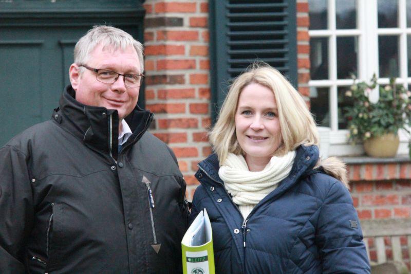Reitlehrer Ralf Rannenberg (Foto l.)  und Vorstandsmitglied Stephanie Grümbel (Foto r.)  waren neben Vorstandsmitglied Klaus Grümbel die Initiatoren des Ponyreitschulprojekts. Foto: FN