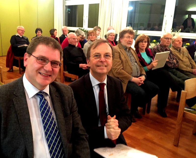Pfarrer Jochen Wahl (l.) und Referent Thomas Rachel (Foto: privat)