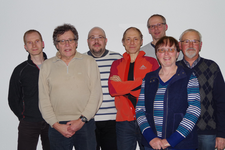 v.l.: Der neue Vorstand des ADFC Siegen-Wittgenstein: Jens Kremer (Beisitzer), Hans-Gerhard Maiwald (Schriftführer), Daniel Neumann (1. Vorsitzender), Dr. Ing. Holger Poggel (2. Vorsitzender), Karsten Riedl und Manfred Rohde (beide Beisitzer). (Foto: Verein)