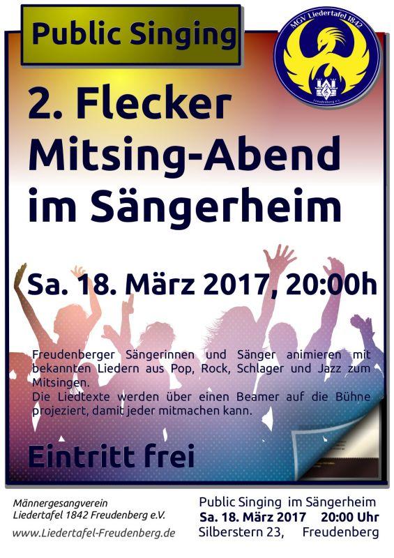 2017-03-06_Frudenberg_Zweiter Flecker Mitsing-Abend_Plakat_Verein