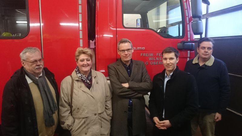v.l.n.r. Ratsmitglieder Klaus Schneider, Katja Leyener, Thomas Boller, Hannes Gieseler und Michael Plügge. Foto SPD